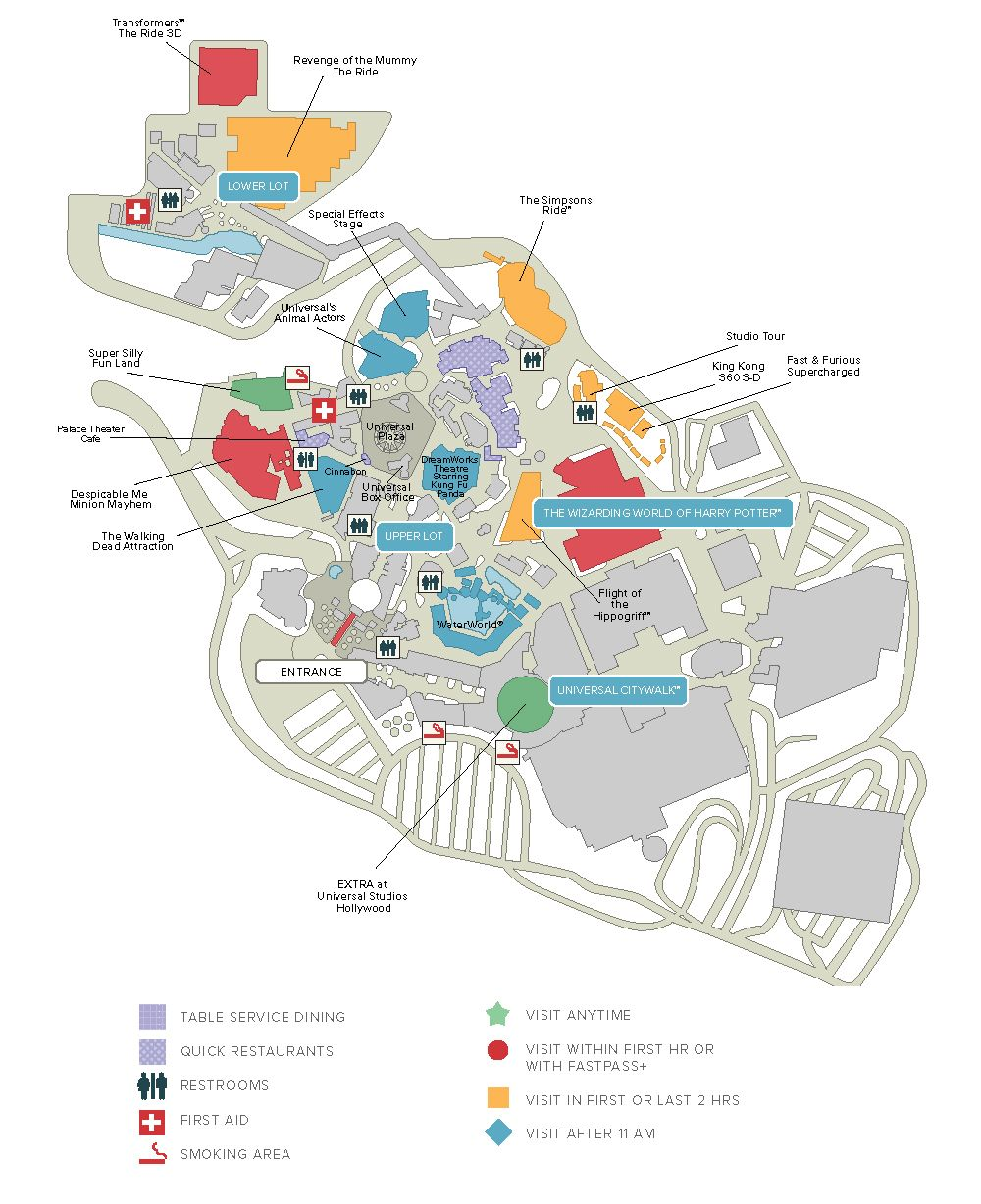 Universal Studios Map 2019 : universal, studios, Universal, Studios, Hollywood, Discount, Tickets,, Crowds,, Videos,, Hours, Studios,, Hollywood,