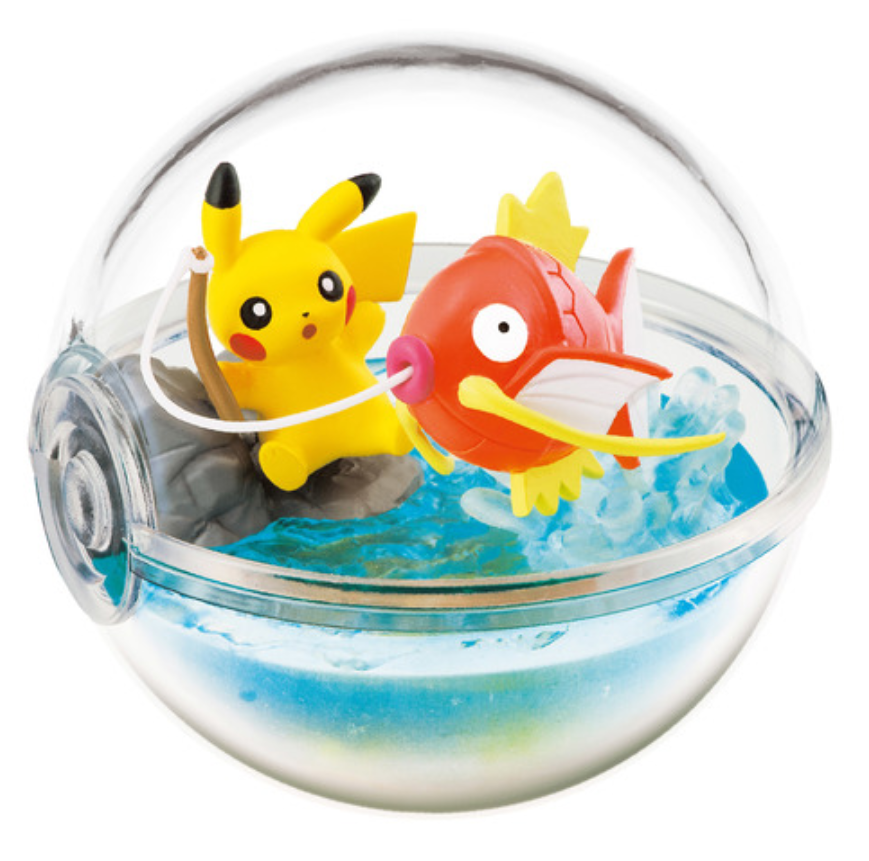 Pikachu Pokeball Terrariums released by Re-ment -