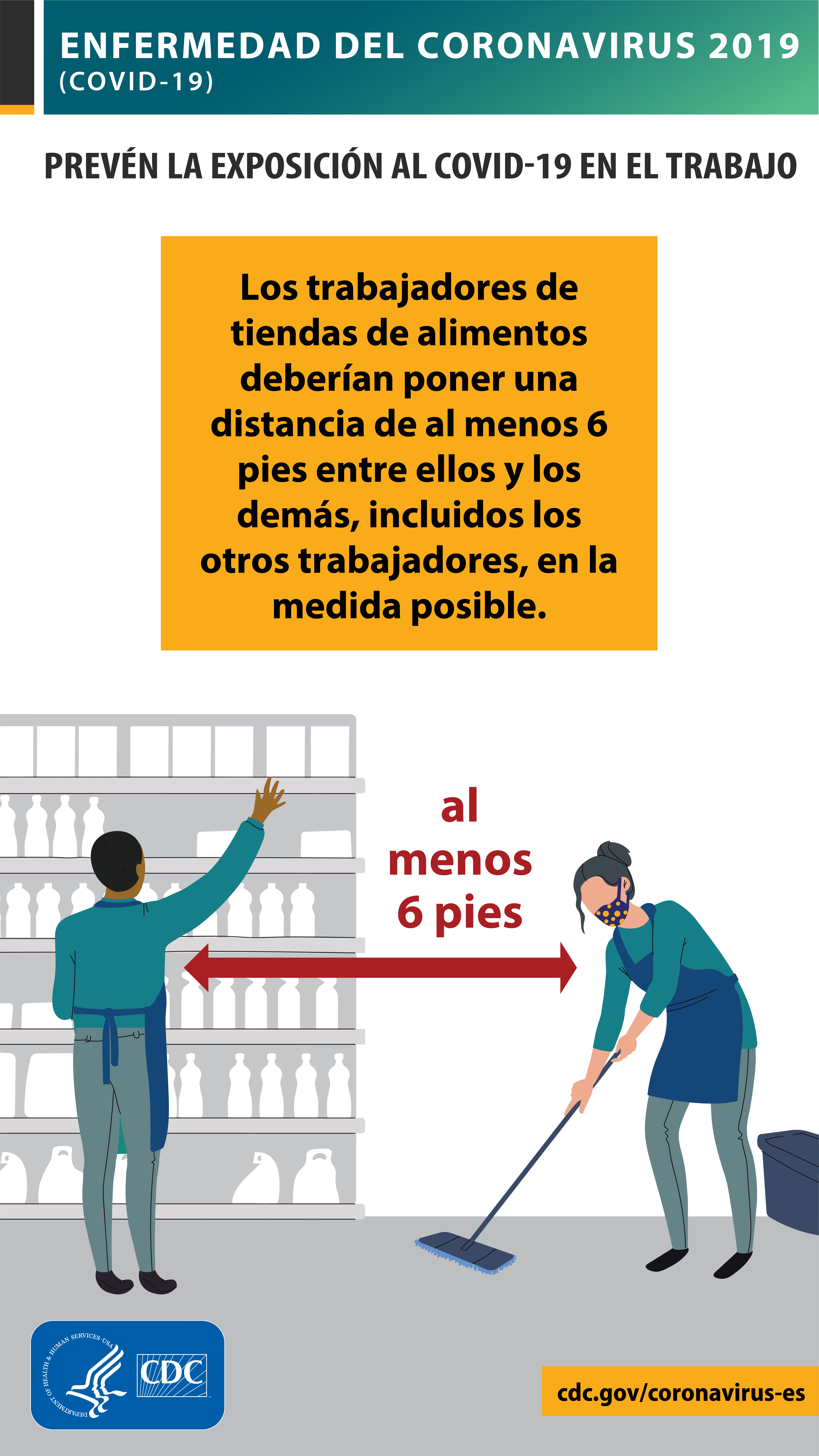 Los trabajadores de tiendas de alimentos podrían estar en