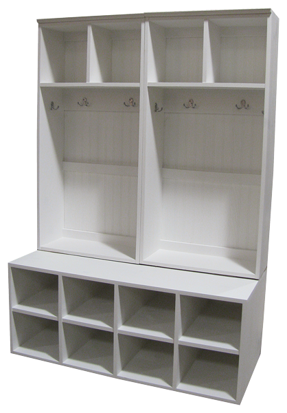 custom double wide lockers on cubbies sawdust city llc rh pinterest com
