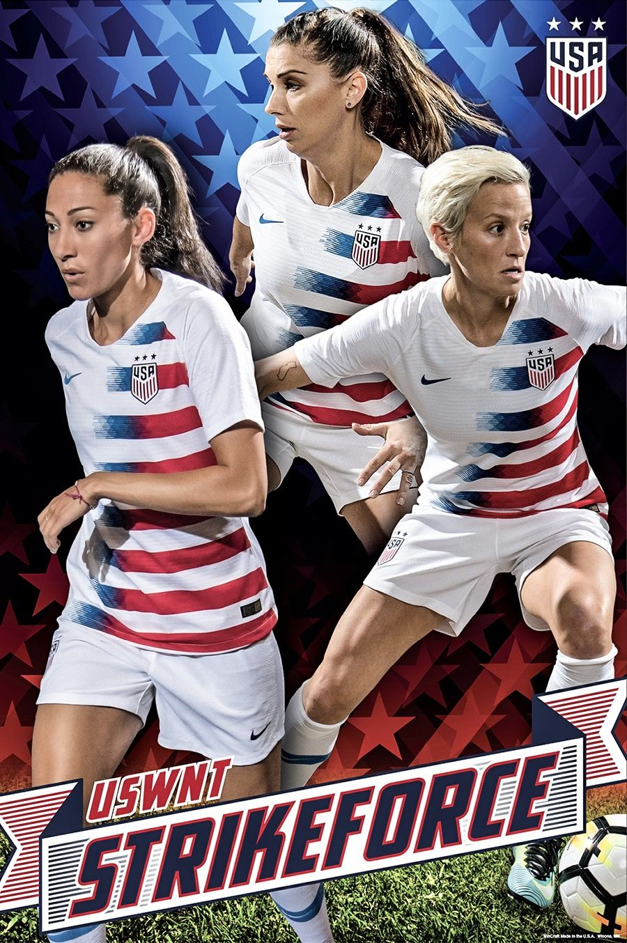 Christen Press Alex Morgan And Megan Rapinoe 2019 Uswnt World Cup Team Strike Force Poster Usa Soccer Women Uswnt Soccer Usa Soccer Team