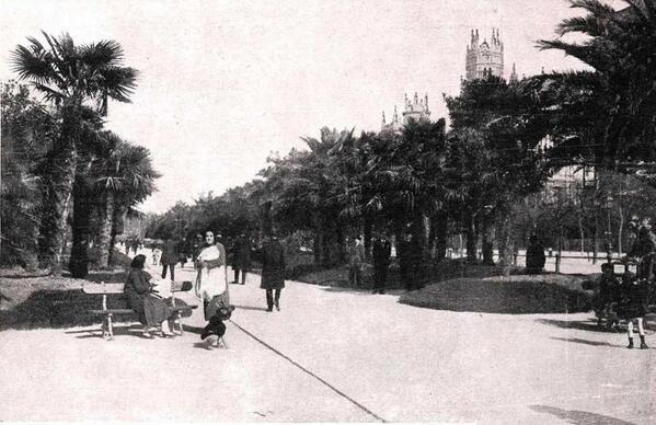 Palmeras en el paseo del prado a o 1928 madrid en 2019 for Calle del prado 9 madrid espana
