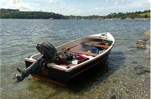 Rental cottage comes with a fishing boat and outboard for Small fishing boats for sale