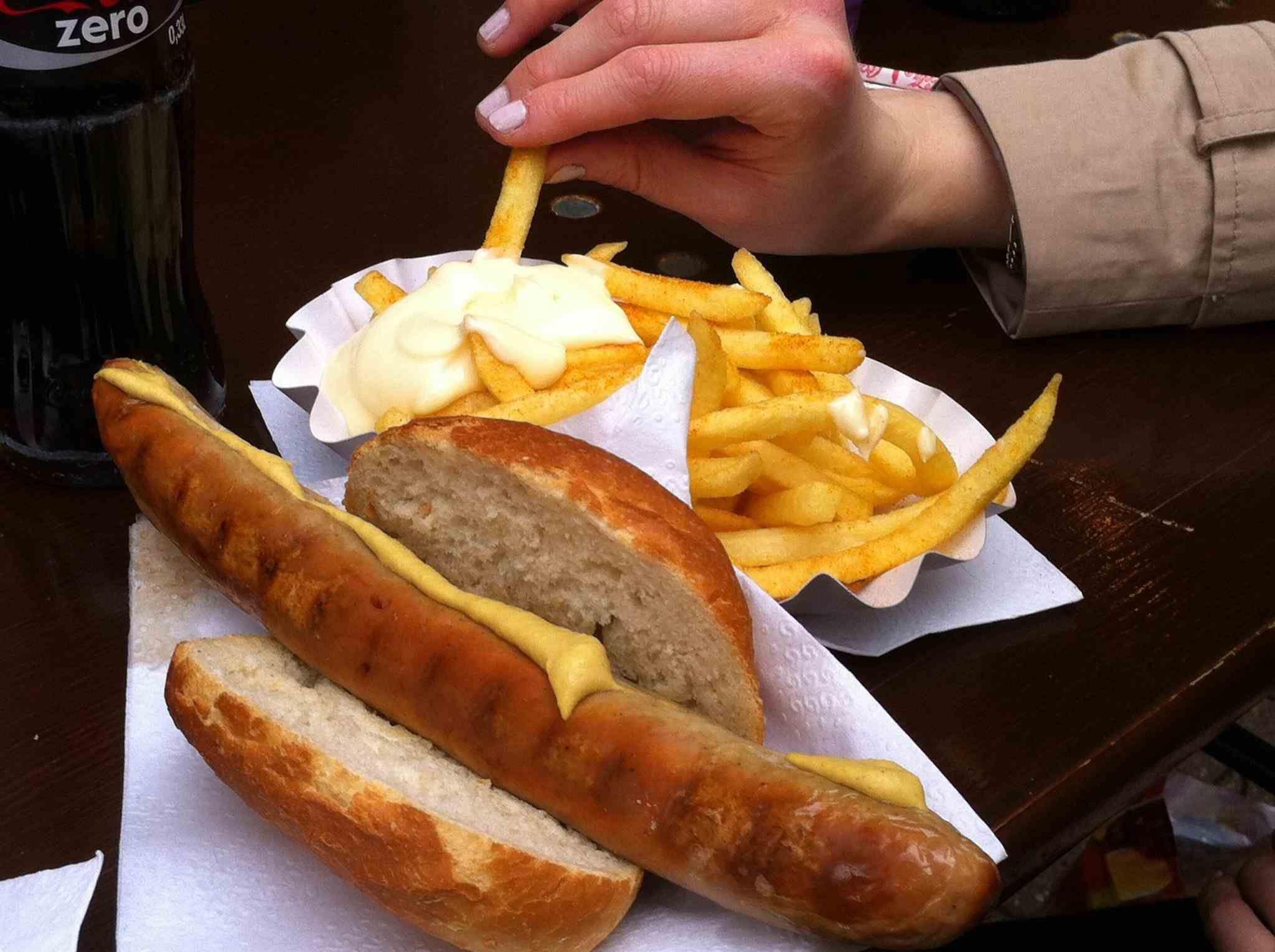 fileleg dusseldorf germany food of pork and