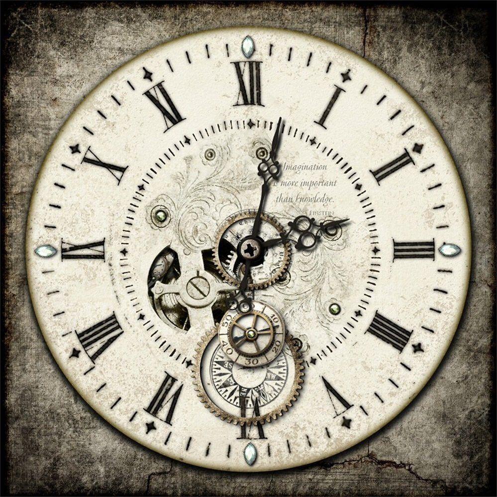 [No title] Steampunk clock, Clock drawings, Clock