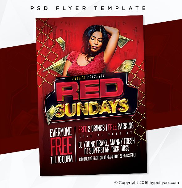 Adobe Photoshop Psd Template Flyer Flyertemplate Nightclub Party