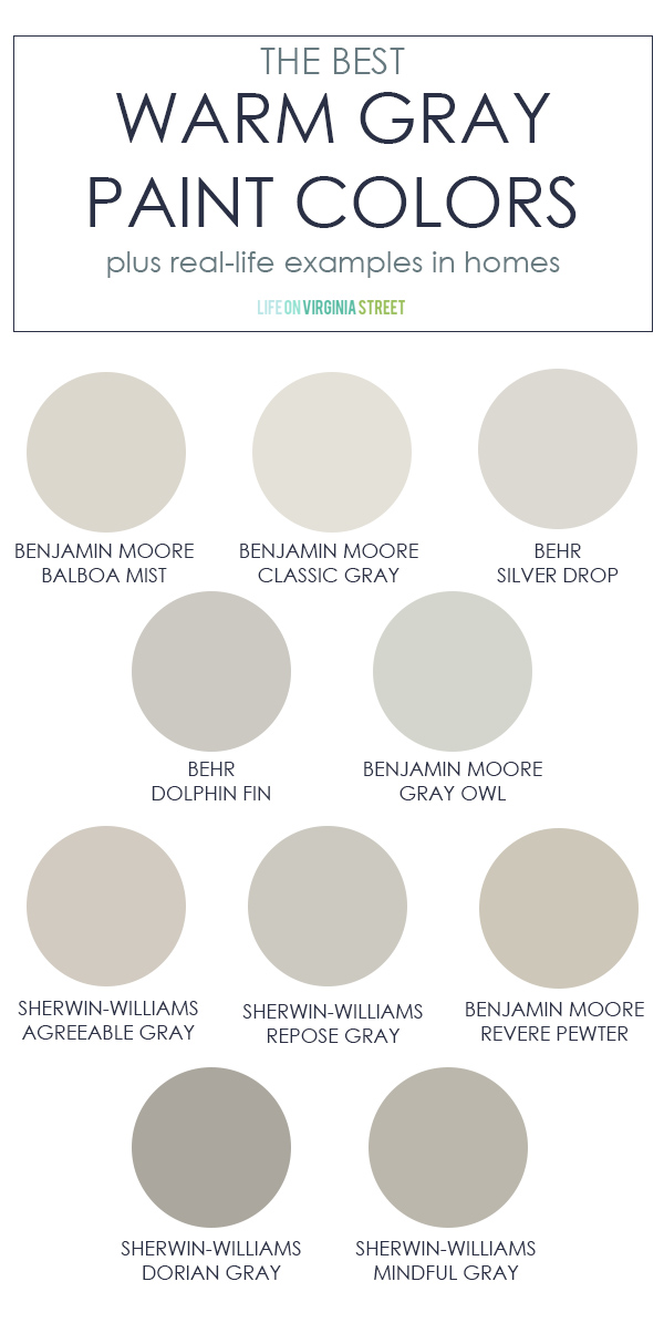 The Best Warm Gray Paint Colors in 2020 | Paint colors for ...