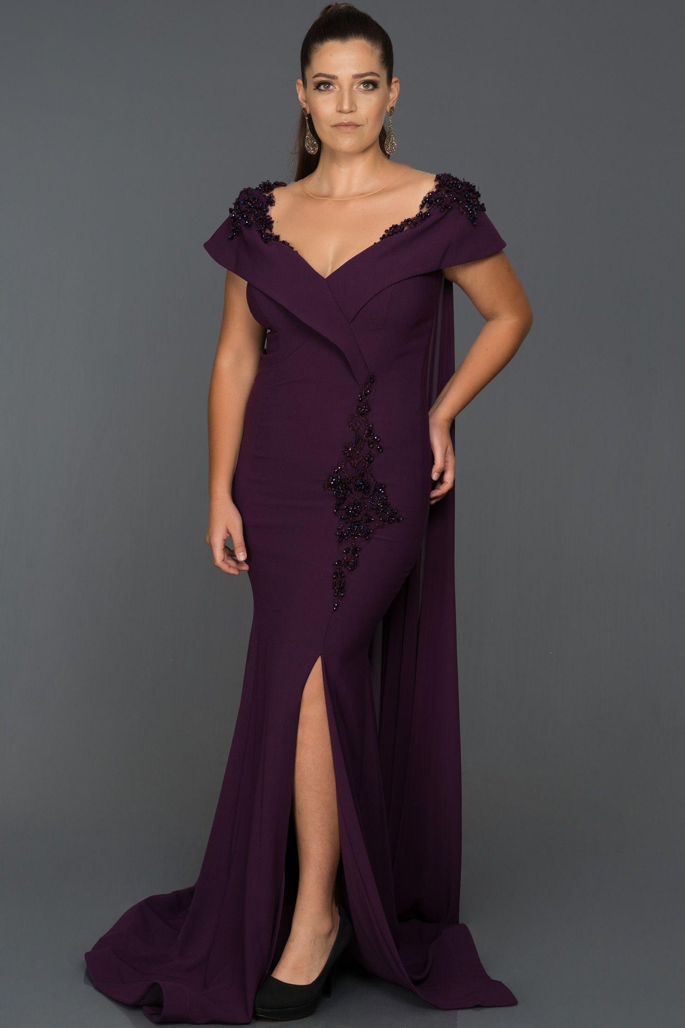 Murdum Yirtmacli Buyuk Beden Abiye Abu182 Elbise Modelleri The Dress Resmi Elbise