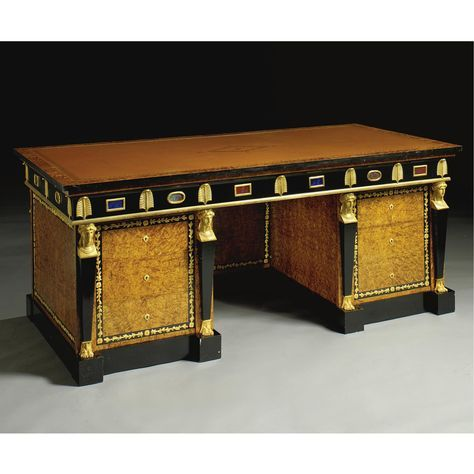 an empire style kneehole writing desk modern lot sotheby s rh pinterest com