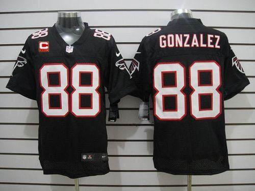 7efcd605b0f62b NFL Jerseys Nike Falcons #88 Tony Gonzalez Black Alternate With C Patch  Men's Stitched NFL Elite Jersey Giants Damon Harrison 98 jersey Jets Nick  Mangold ...