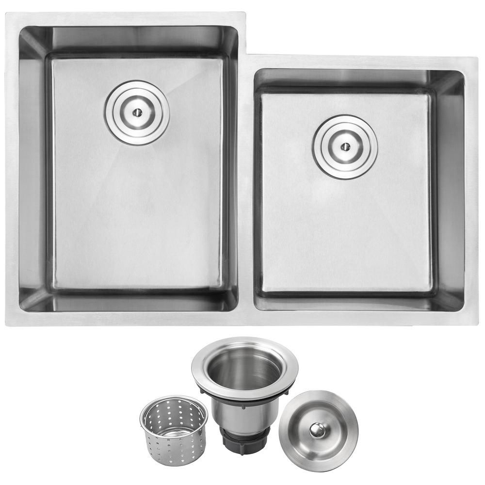 arlo undermount stainless steel 30 5 in 18 gauge double bowl rh pinterest com