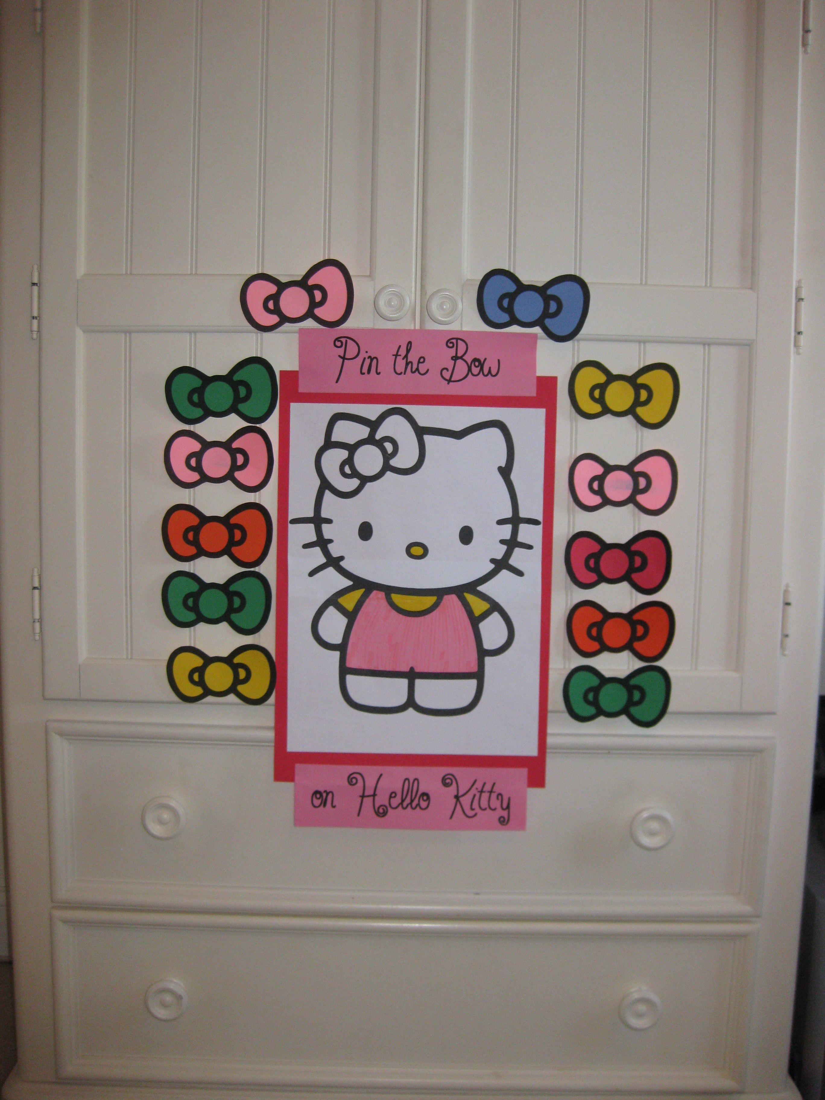 Diy Hello Kitty Decoration And Activity Game For A Birthday Party