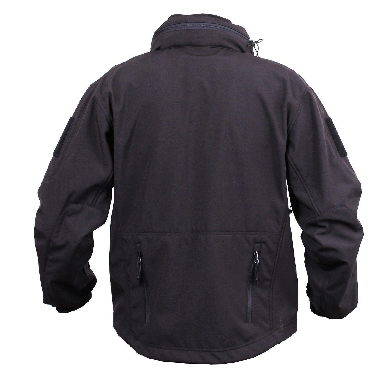 Men's Black Concealed Carry Soft S Tactical Jacket Waterproof ...