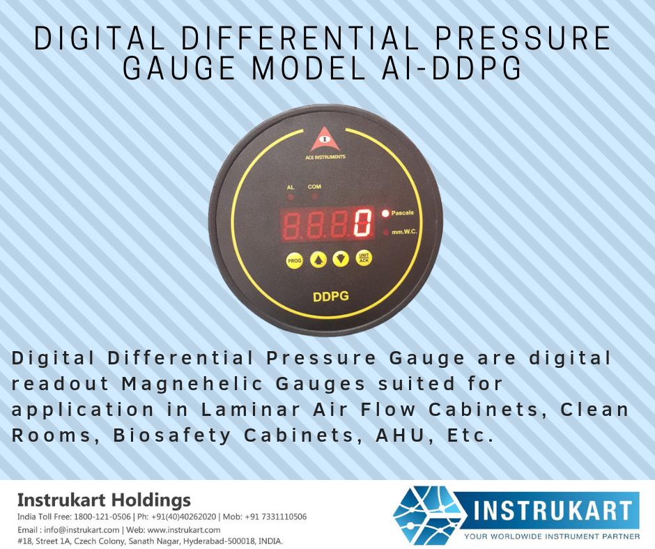 Ace Digital Differential Pressure Gauge Pressure gauge