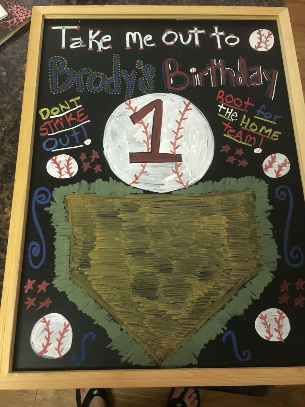for my sons first birthday baseball theme