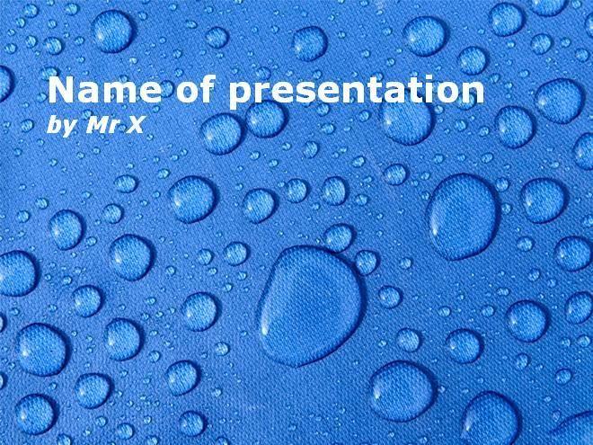 Plantilla Powerpoint de Diapositiva Gotas de agua  Agua