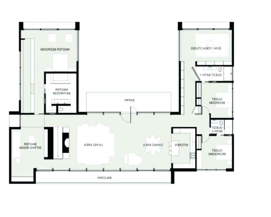 U Shaped House Plans Small U Shaped House Plans Beautiful U Shaped Home Designs Gallery Interior Design Ide U Shaped House Plans Garage House Plans House Plans