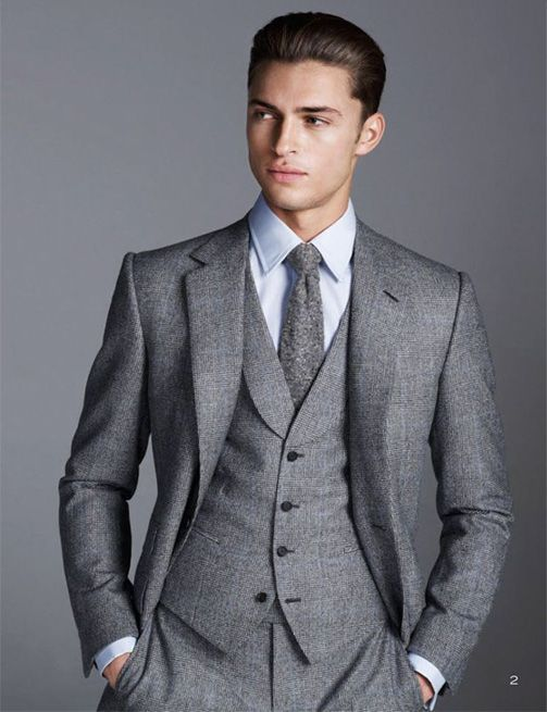 Three Piece Stylish Grey Suit for Men | Hairstyles and beards ...