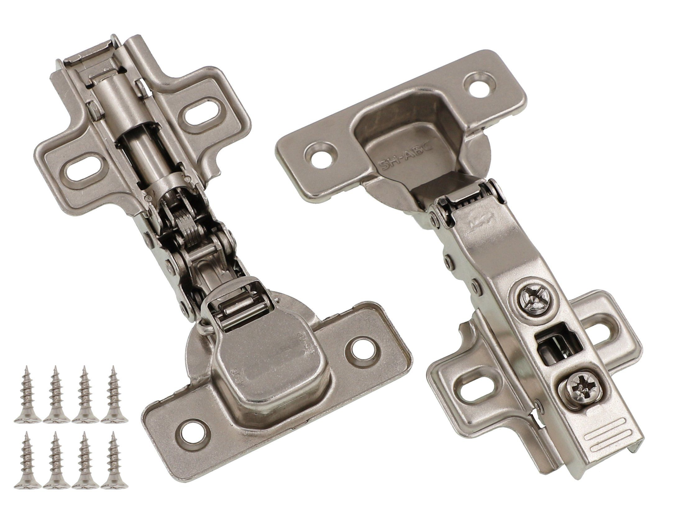 Full Overlay Concealed Frameless Cabinet Hinge Soft Closing Clip On Plate 50 To View Furthe Overlay Cabinet Hinges Hinges For Cabinets Frameless Cabinets