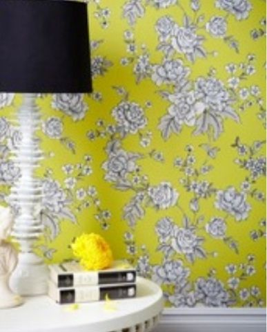 graham and brown yellow wallpaper yellow d cor color your space rh pinterest com