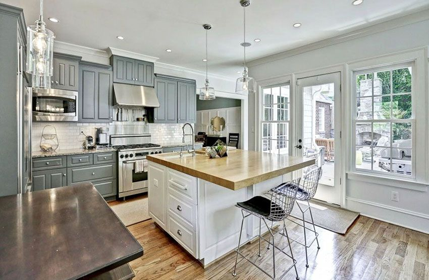 gorgeous contrasting kitchen island ideas pictures gray white kitchen kitchen cabinets on kitchen ideas white and grey id=28362