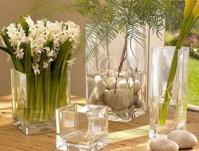 Decorate Glass Vases With Different Things Square Glass Vase