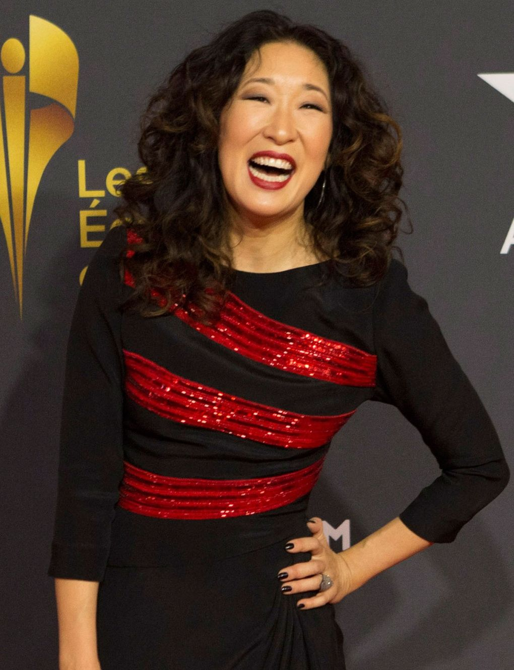 Sandra Arrives Red Carpet Canadian Screen Awards In Toronto Sunday March 3