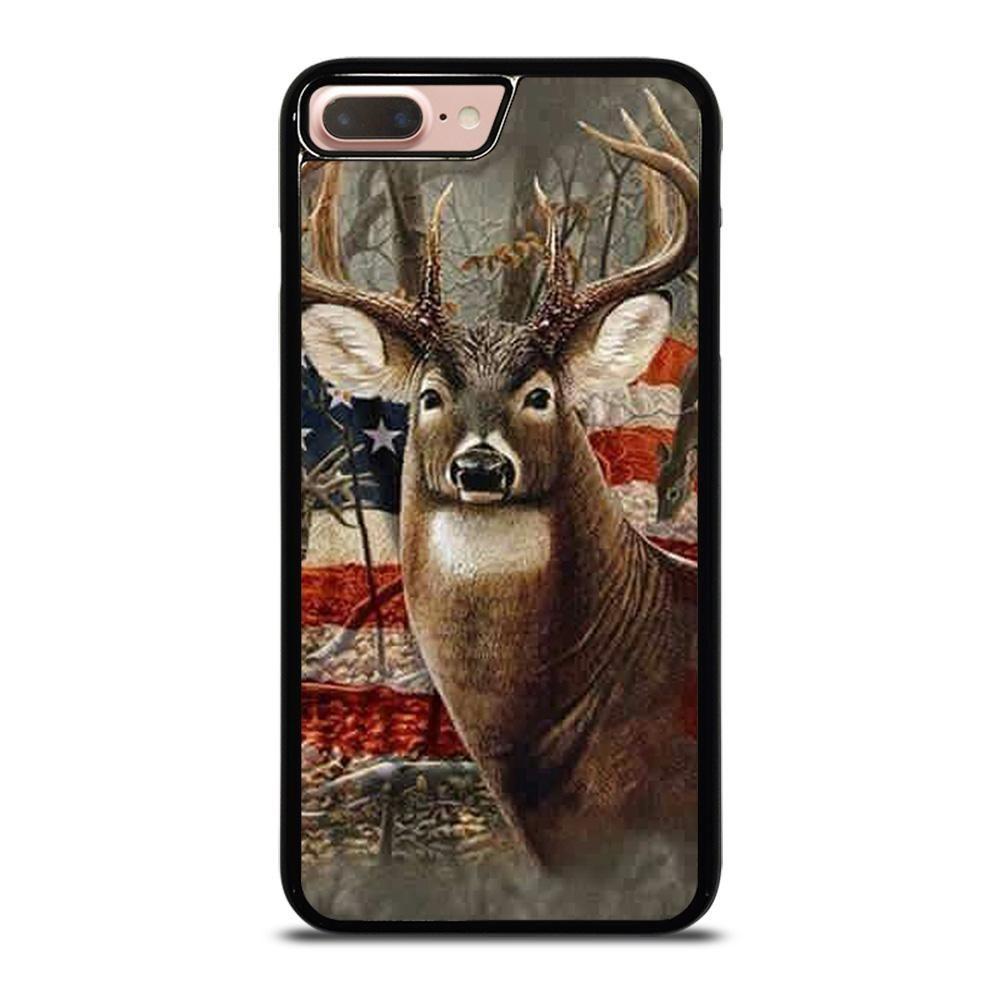 American flag deer buck camo iphone 7 8 plus case in