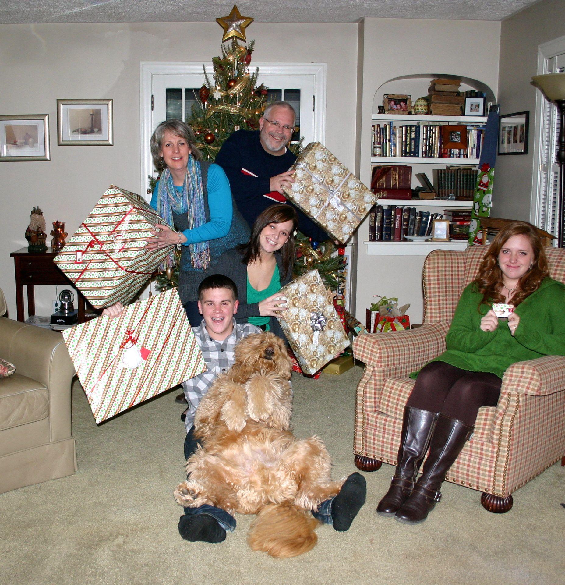 Last years Christmas card. On Awkward Family Photos