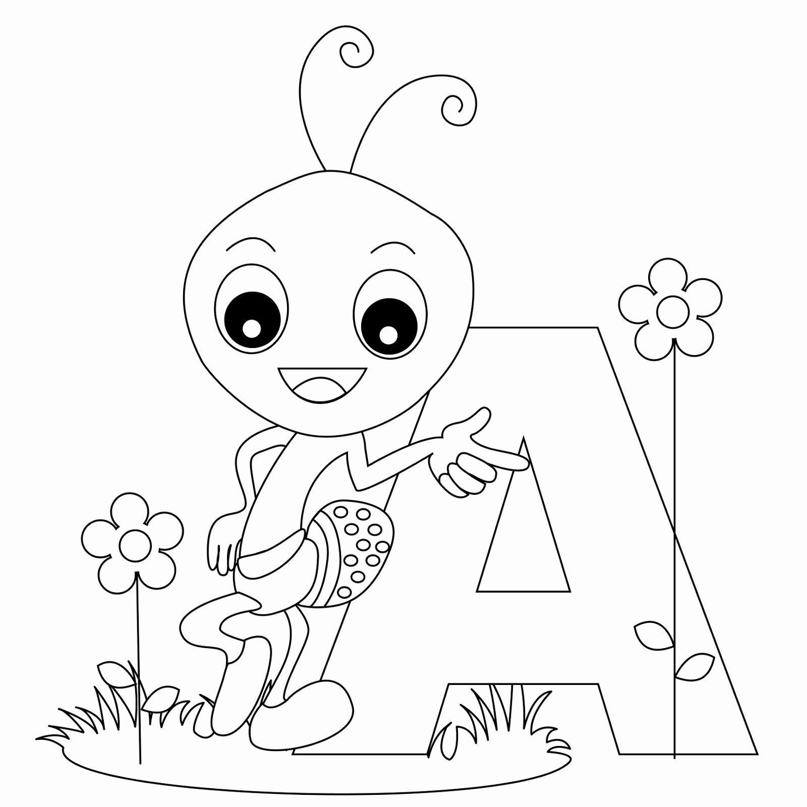 Letter A Coloring Sheets Elegant Animal Alphabet Letter A Coloring Child Coloring Buku Mewarnai Halaman Mewarnai Alfabet Huruf