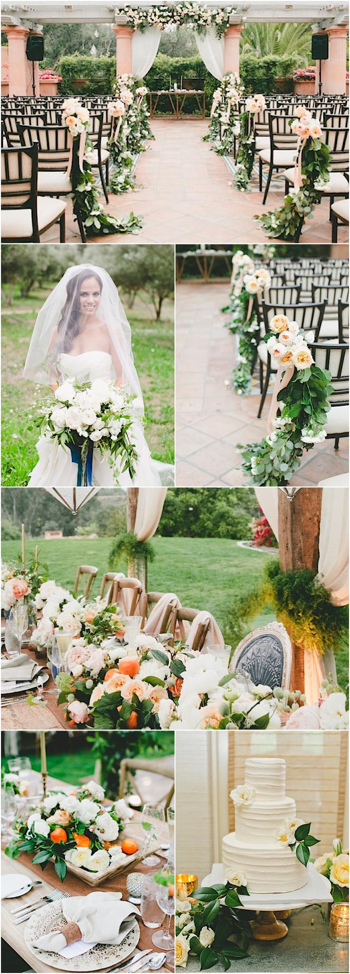 Citrus Inspired California Wedding Outdoor Wedding ReceptionWedding