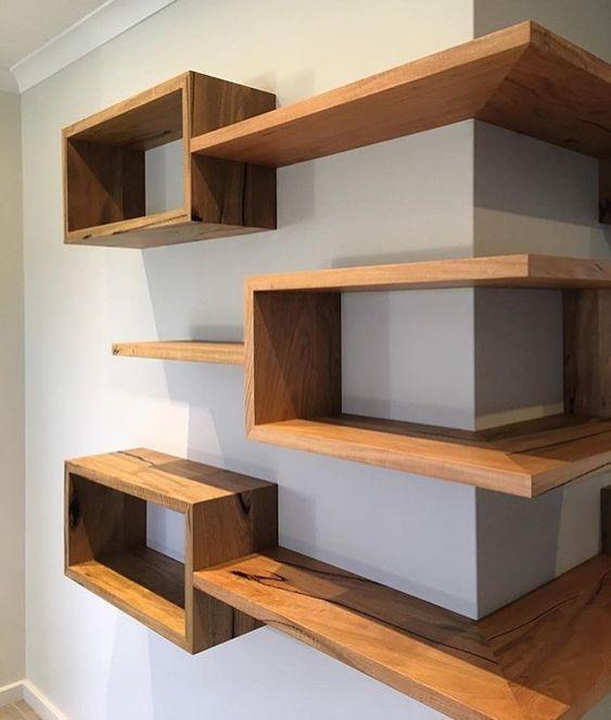 diy corner shelves 1 min   Diy eckregal, Eckregale, Diy holz