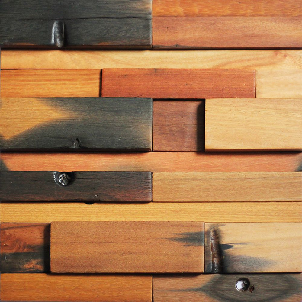 Decorative Wood Wall Tiles Reclaimed Wood Wall Tile For Interior Wall Design 11 Panels 107