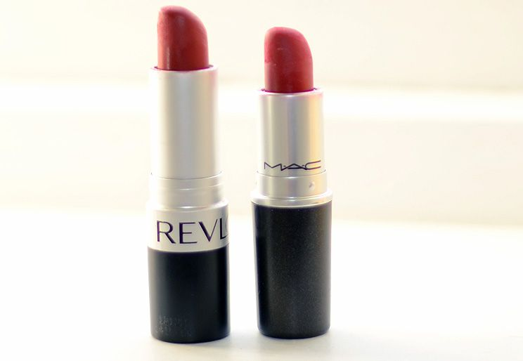 Lipstick Comparison: MAC Ruby Woo vs Revlon Really Red ...