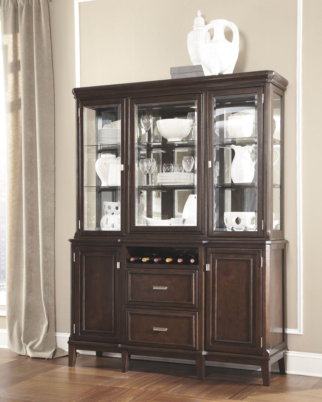Larimer China Display Cabinet In Dark Espresso 178540 Dining Room HutchDining