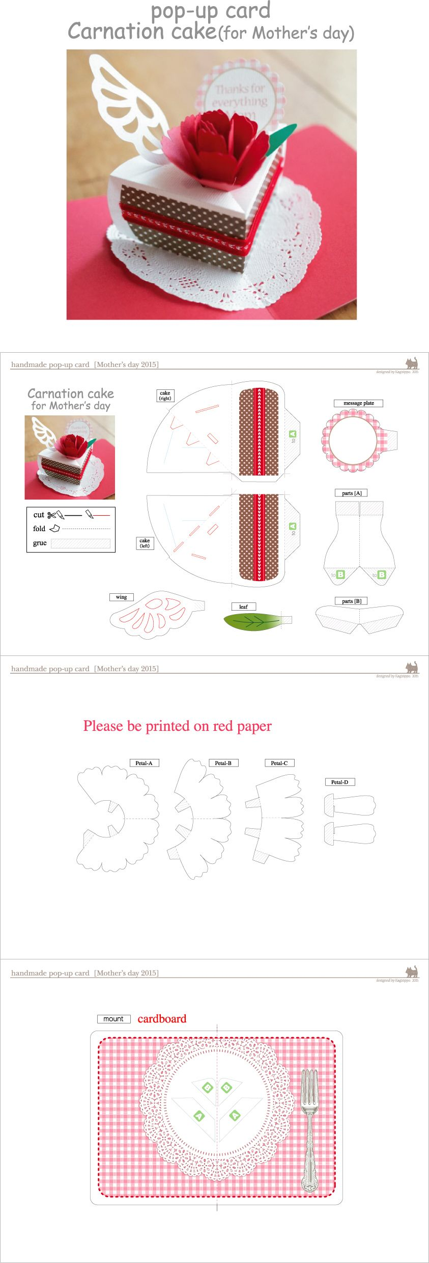 This Website Has Pop Up Cakes And Trees Birthday Card Pop Up Pop Up Card Templates Handmade Paper Crafts