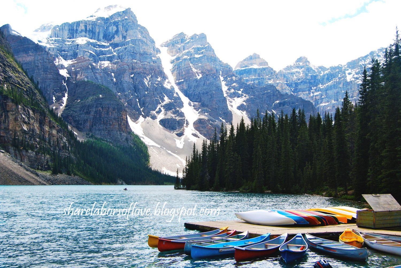 Moraine Lake Canada Boat Dock, Photo Print Moraine lake