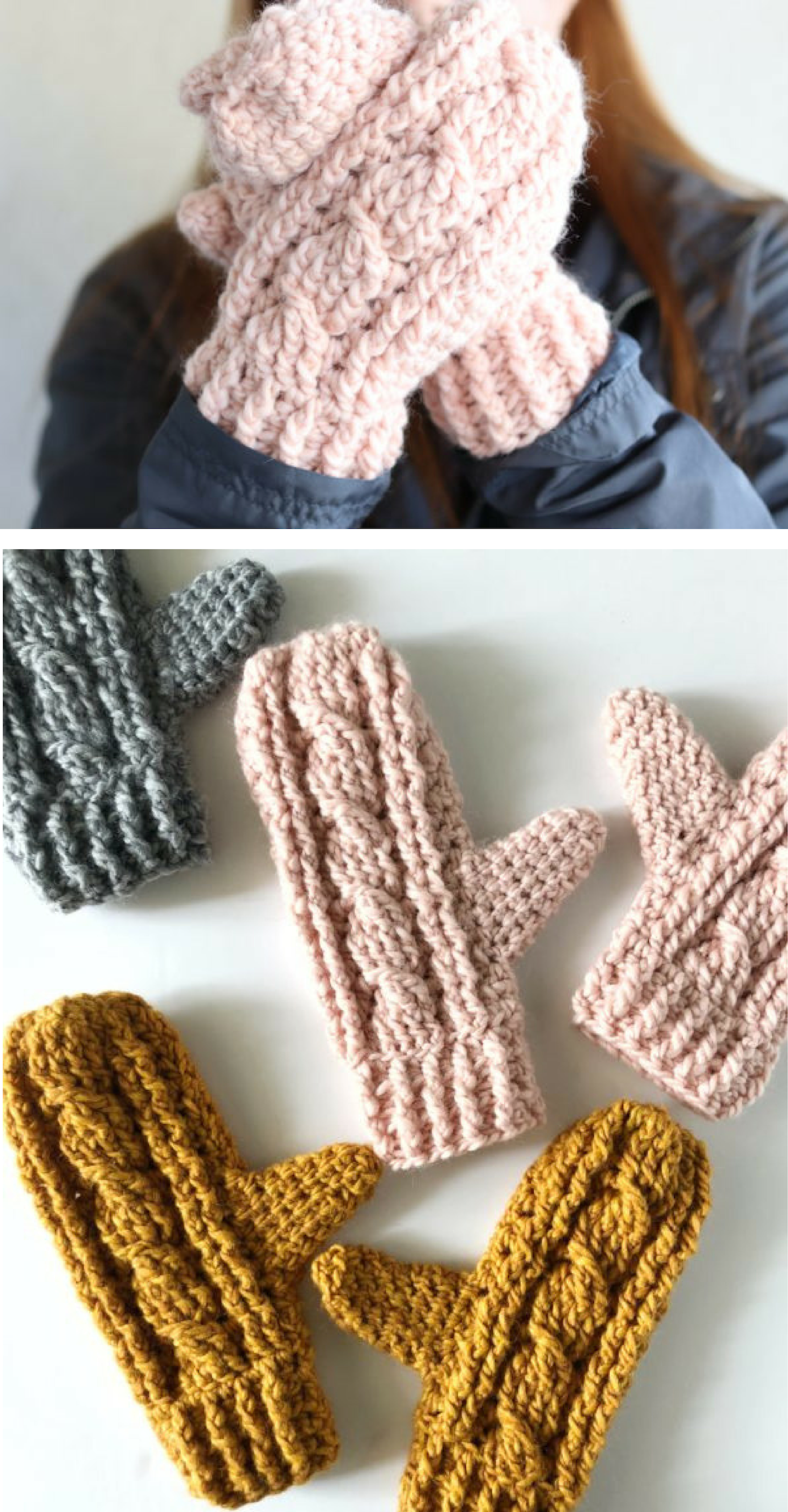 Free Pattern Crochet Cable Twist Mittens With Images Crochet Mittens Free Pattern Crochet Mittens Pattern