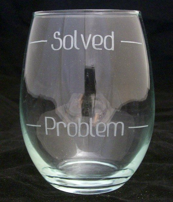 Problem Solved Stemless Wine Glass Christmas Gifts Birthday Lover Mother