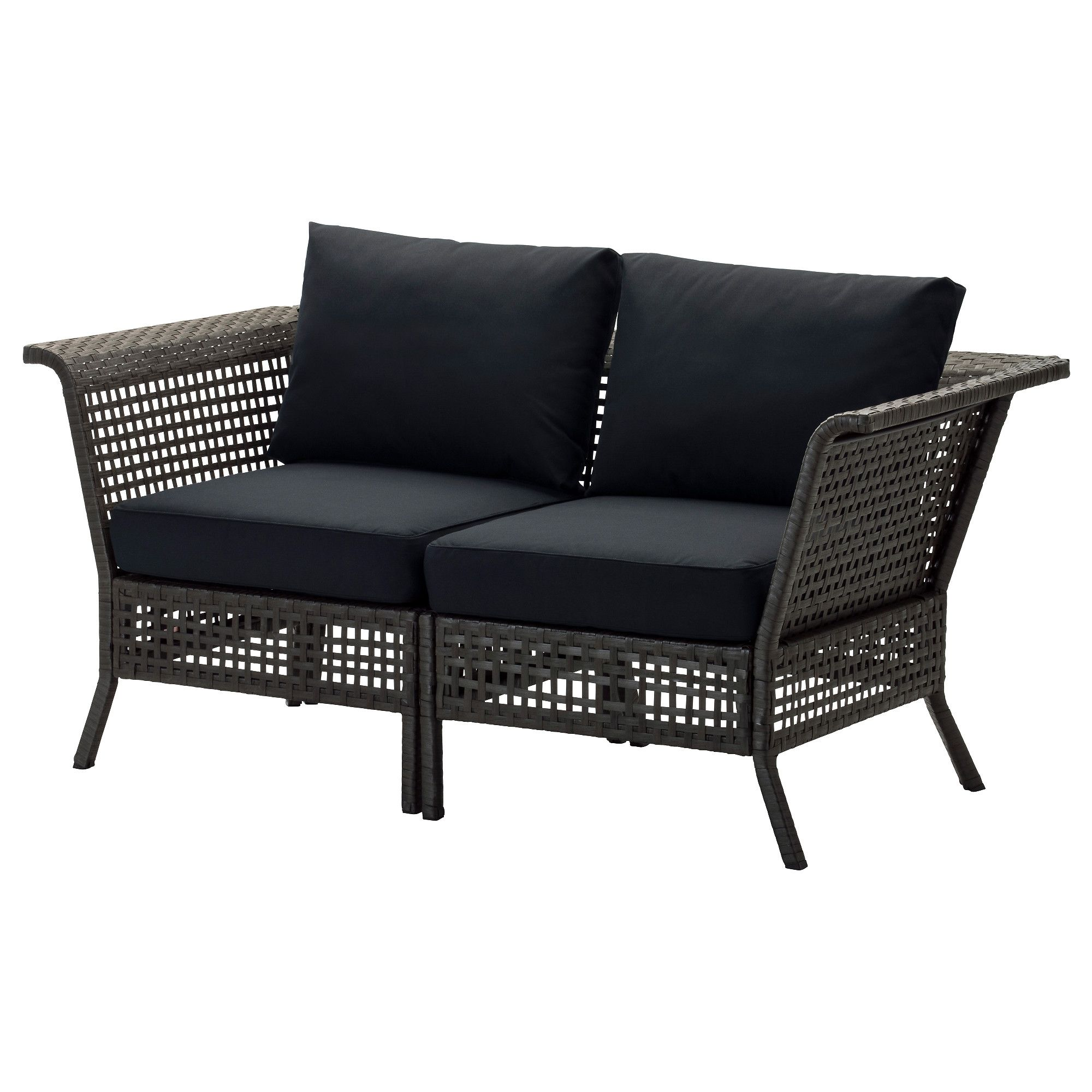 kungsholmen loveseat outdoor black brown kungs black ikea rh pinterest com