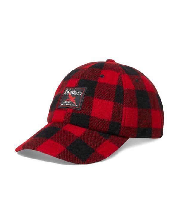3bdf5c0689 Polo Ralph Lauren Buffalo Check Wool-Blend Cap   Buffalo Plaid ...