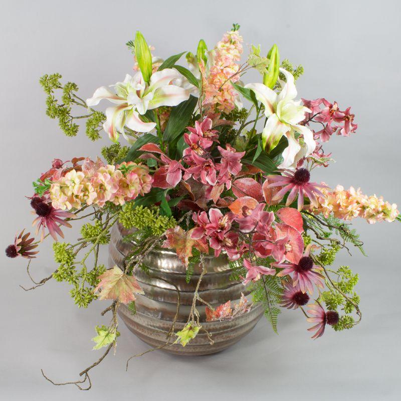 Herbst dekoration blumen gestecke silkflowers for Dekoration herbst
