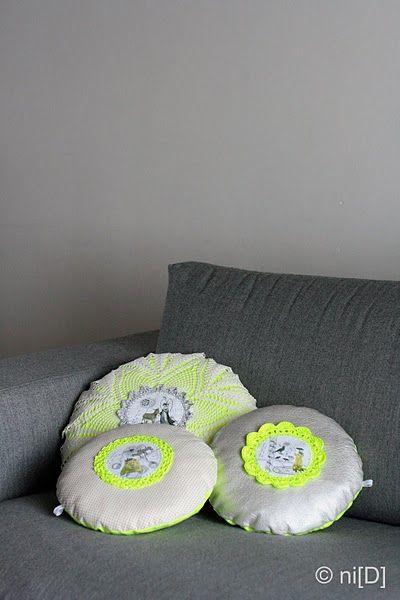 crochet neon pillows | Pillows | Pinterest | Häkeldeckchen, Kissen ...