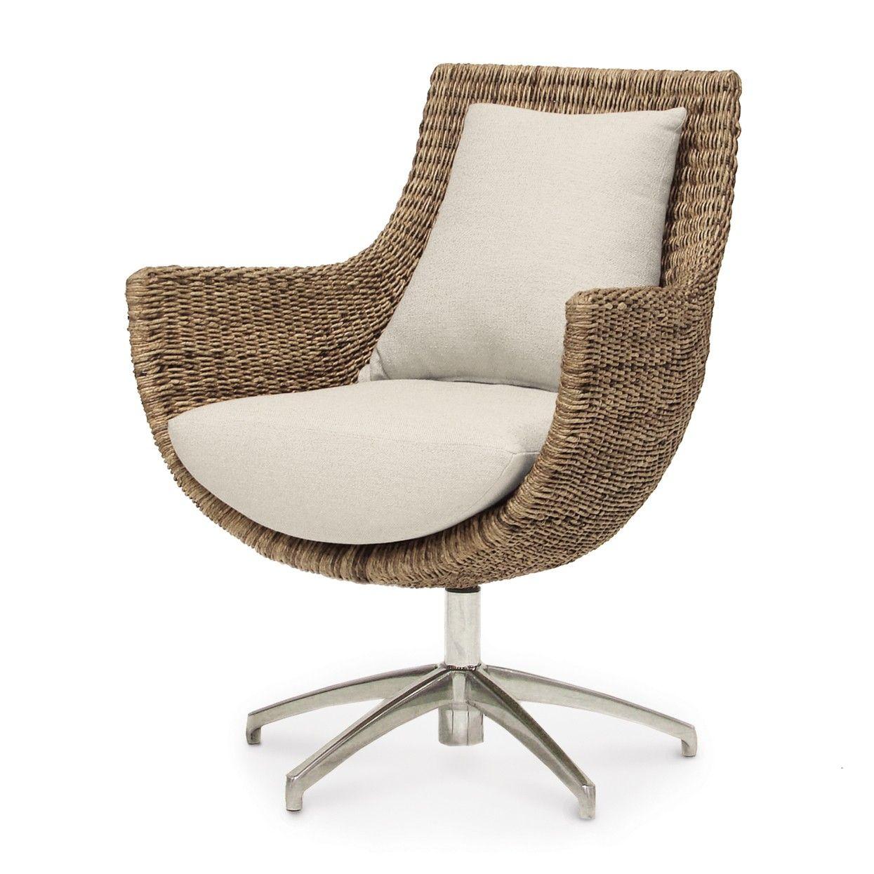 palecek metro swivel high back chair natural pinterest arms rh pinterest com