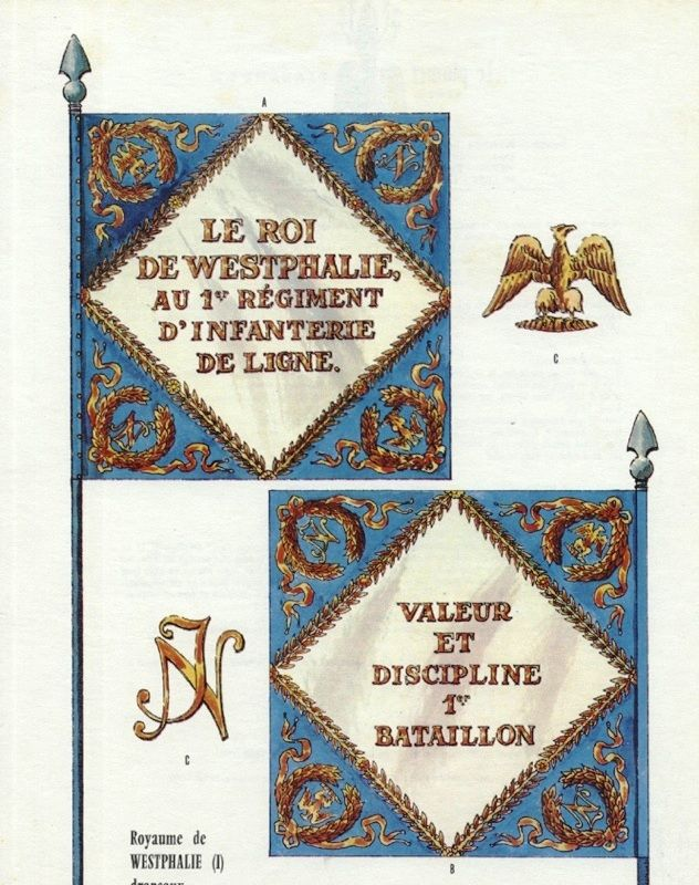 Bandiera di guerra del 1 rgt fanteria di linea della for Bandiera di guerra italiana