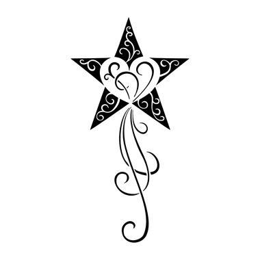 tatouage étoile avec cœur décorée | tatou | pinterest | tattoo ideen