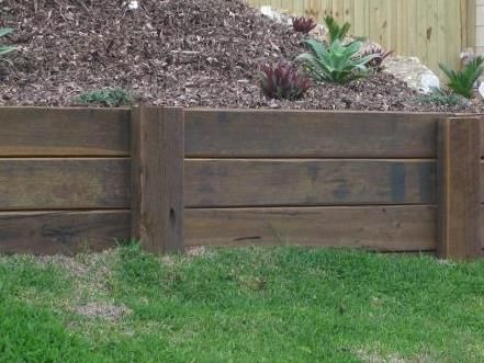 how to build a retaining wall timber sleeper retaining walljpg - Timber Retaining Wall Design