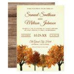 Rustic Fall Autumn Trees Forest Wedding Invitation