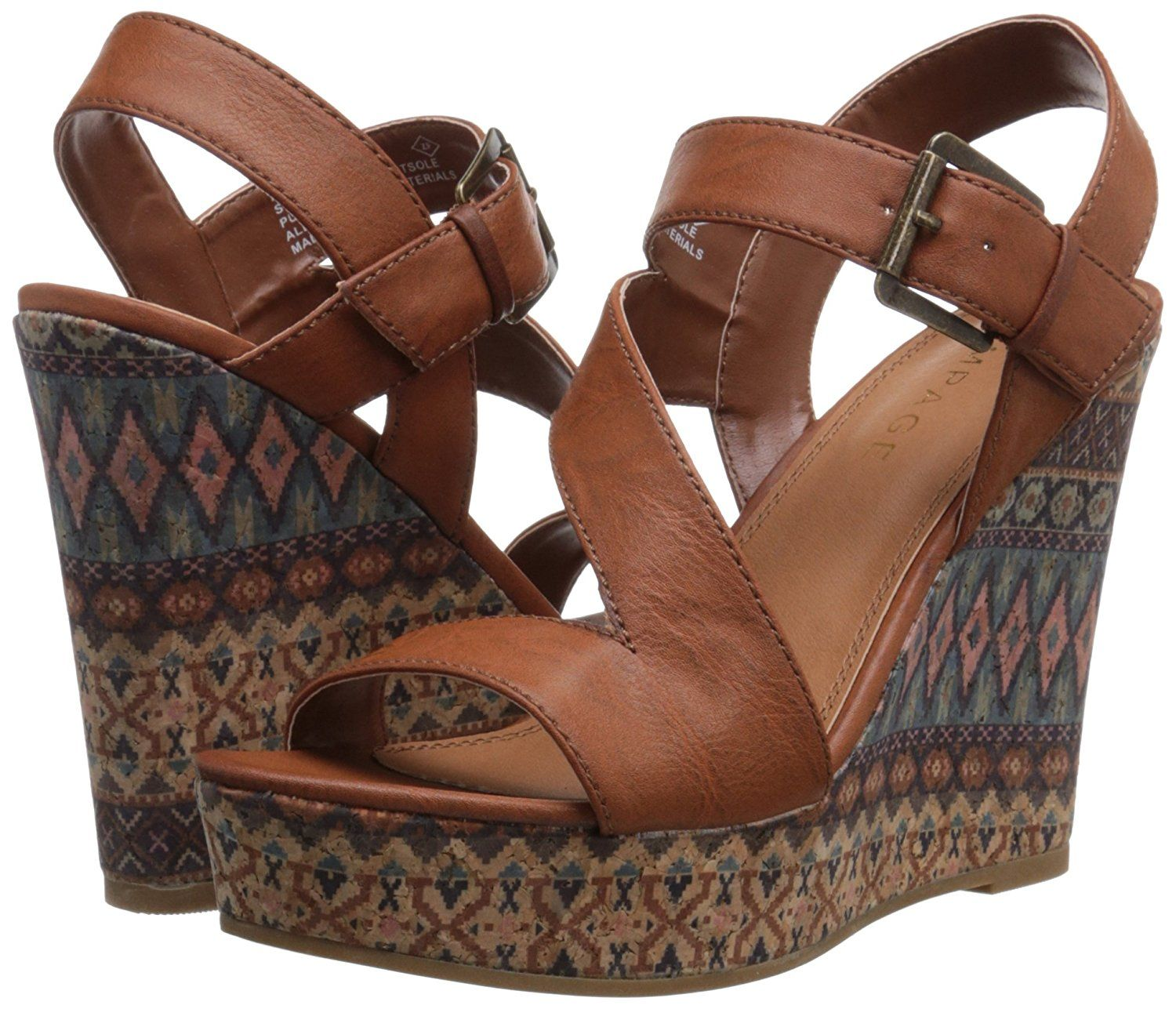 a7024b7368c Rampage Women s Heidi Platform Ankle Strap Open Back Wedge Sandal -- Want  to know more