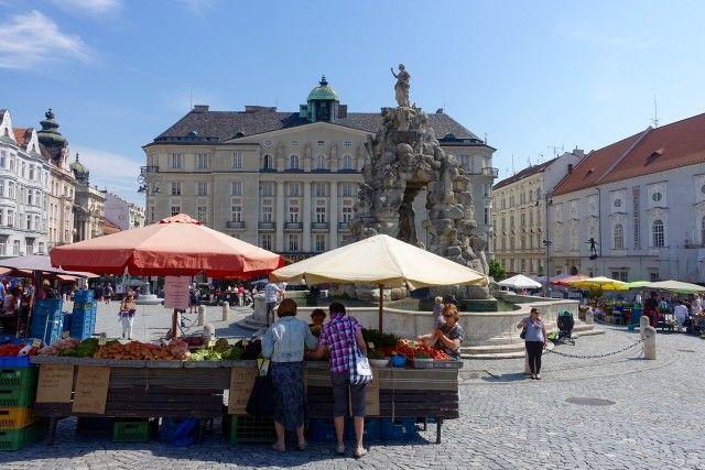 Auf dem Krautmarkt in Brünn